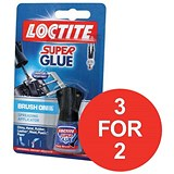 Image of Loctite Super Glue / Easy Brush-in / Anti-spill safety Bottle / 5g / 3 for the price of 2