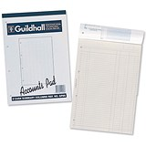 Image of Guildhall Account Pad GP6Z / 6 Cash Columns / Ruled 41 Feint / 60 Leaf