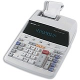 Image of Sharp Calculator Printing Mains-power 12-Digit 3.0 Lines/sec 221x305x72mm Ref EL1607P