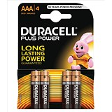 Duracell Plus Power Alkaline Battery / AAA / 1.5V / Pack of 4