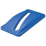 Image of Rubbermaid Slim Jim Lid for Paper Recycling System - Blue