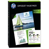 Image of HP 920XL Value Pack - Includes 3 Cartridges and 50 Sheets of A4 Matte Paper