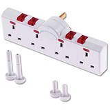 Image of 4-Way Switched Neon Gang Surge Protector