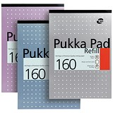 Image of Pukka Pad Headbound Refill Pad / A4 / Ruled with Margin / Punched / 160 Pages / Pack of 6