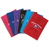 Image of Campus Laminated Card Cover Wirebound Notebook / A5+ / 2 Hole / 140 Pages / Pack of 5