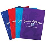 Image of Campus Laminated Card Cover Headbound Refill Pad / A4 / 120 Pages / Pack of 5