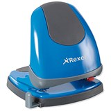 Image of Rexel Easy Touch Low Force 2 Hole Punch / Blue / Punch capacity: 30 Sheets