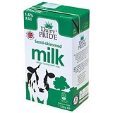 Image of Dairy Pride Semi Skimmed Longlife Milk - 12 x 1 Litre Cartons