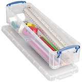 Image of 1.5 Litre Really Useful Storage Box - Clear Strong Plastic
