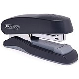 Image of Rapesco Flat Clinch Half Strip Stapler for 26/6 Staples - Black