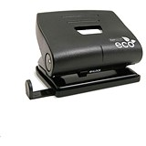 Rapesco Eco 2-Hole Punch with Recycled ABS Casing / Black / Punch capacity: 22 Sheets