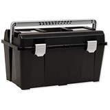 Raaco 19 Inch Toolbox with Removable Tray - Black