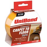 UniBond Carpet To Floor Tape / Permanent / 50mmx10m