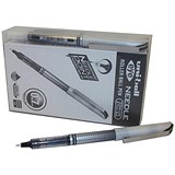 Image of Uni-ball UB-187S Eye Needle Pen Stainless Steel Point / Fine / 0.5mm Line / Black / Pack of 12 + 2 FREE