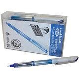 Image of Uni-ball UB-187S Eye Needle Pen Stainless Steel Point / Fine / 0.5mm Line / Blue / Pack of 12 + 2 FREE