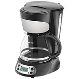 Image of Filter Coffee Maker with Digital Display / 5 Cup Capacity / Black and Stainless Steel