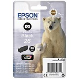 Image of Epson 26 Photo Black Inkjet Cartridge
