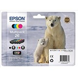Image of Epson 26 Inkjet Cartridge Multipack - Black, Cyan, Magenta and Yellow (4 Cartridges)