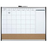 Image of Rexel Calendar Combination Board / Cork & Magnetic Drywipe / Arched Frame / W585xH430mm