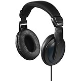 Image of Padded Over-Ear Stereo Headphones / 1.2m Cable / Black