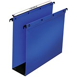Image of Elba Ultimate Suspension Files / Square Base / 80mm Capacity / Foolscap / Blue / Pack of 10