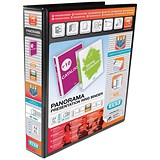 Image of Elba Panorama Presentation Binder / A4 / 4 D-Ring / 40mm Capacity / Black / Pack of 6