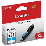 Image of Canon CLI-551XL High Yield Cyan Inkjet Cartridge