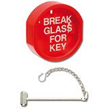 Plastic Front Keybox & Hammer Red