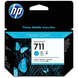 Image of HP 711 Cyan Ink Cartridge - Pack of 3