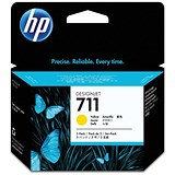 Image of HP 711 Yellow Ink Cartridge - Pack of 3
