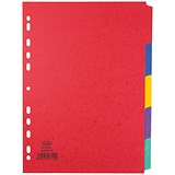 Image of Elba Heavyweight Dividers / 5-Part / A4 / Assorted