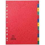 Image of Elba Heavyweight Dividers / Jan-Dec / A4 / Assorted