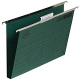 Elba Ultimate Suspension Files / Square Base / 30mm Capacity / Foolscap / Green / Pack of 50