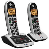 Image of BT 4600 Twin Handset DECT Telephone with Answering Machine Ref 55263