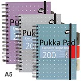 Pukka Pad Metallic Executive Project Book / A5 / Pack of 3