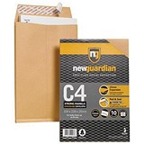 Image of New Guardian Heavyweight C4 Gusset Envelopes / 25mm Gusset / Peel & Seal / Manilla / Pack of 10