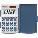 Image of Sharp EL243S Calculator Hand Held with Hard Cover Ref EL243S