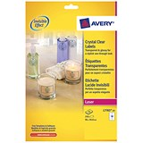 Image of Avery Crystal Clear Labels / 10 Per Sheet / 96x50.8mm / L7783-25 / 250 Labels