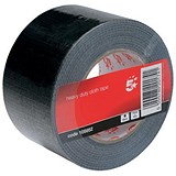 Image of 5 Star Heavy-duty Cloth Tape Roll / 75mmx50m / Black