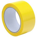 Image of Polypropylene Tape / 50mmx66m / Yellow / Pack of 6