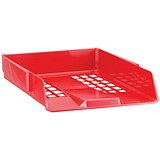Image of Avery Basics Stackable Letter Tray / A4 & Foolscap / W278xD390xH70mm / Red