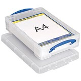 Image of 4 Litre Really Useful Storage Box - Clear Strong Plastic