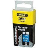 Image of Stanley 10mm Light Duty Staples - Pack of 1000