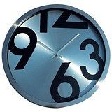 Image of Wall Clock Round Metal Ref 2716