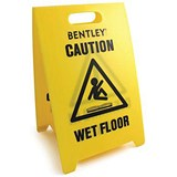 "Image of Corrugated Floor Sign - ""Caution Wet Floor Cleaning in Progress"""