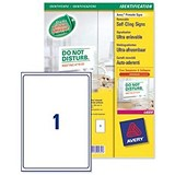 Image of Avery Removeable Self-Cling Signs / 1 per Sheet / 190x275mm / L7080-10 / 10 Signs