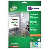 Image of Avery Self-Laminating Adhesive Signs / 2 per Sheet / 150x100mm / L7086-10 / 20 Signs