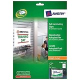 Image of Avery Self-Laminating Adhesive Signs / 170x257mm / L7087-10 / 10 Signs