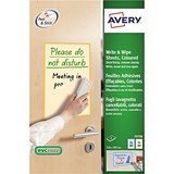 Image of Avery Write and Wipe / Colour Mix Pack of A4 Sheets / 70708 / 4 Sheets