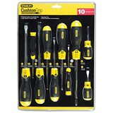 Image of Stanley Cushion Grip Screwdriver Set 10 Piece